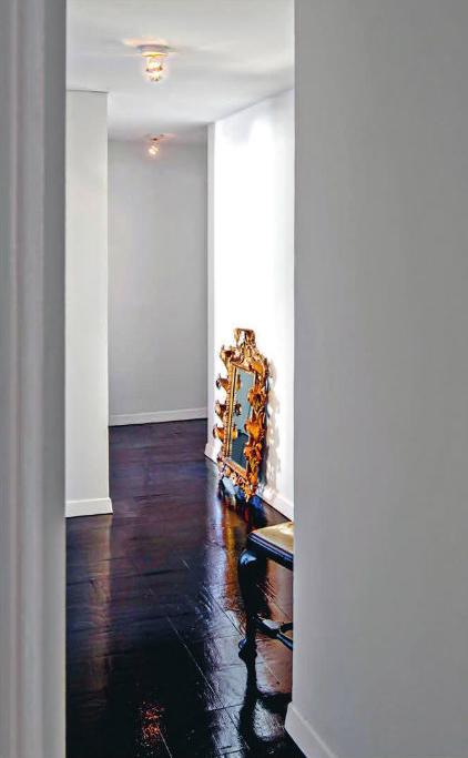 An 18th-century Italian mirror in an apartment in Manhattan